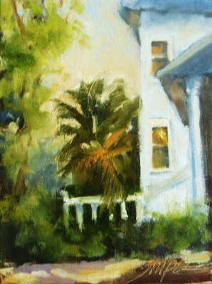 """Vacation House, Isle of Palms"" original fine art by Connie Snipes"