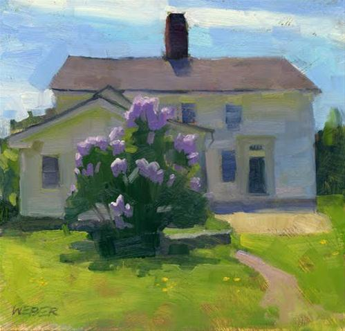 """Lilacs at Smith Castle"" original fine art by Kathy Weber"