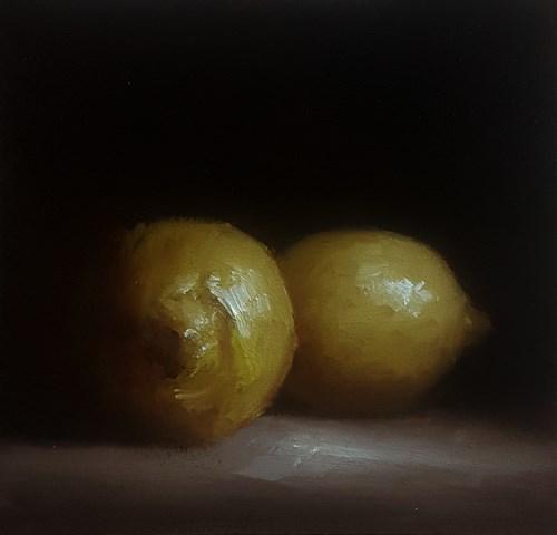 """""""Two Lemons"""" original fine art by Neil Carroll"""