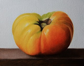 """Heirloom Tomato"" original fine art by Jonathan Aller"