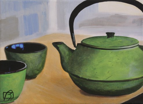 """Japanese Tea Pot"" original fine art by Andre Beaulieu"