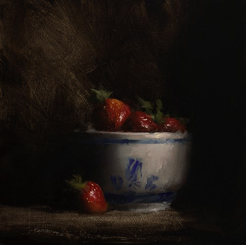 """Strawberry Berry"" original fine art by Neil Carroll"