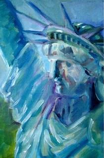 """""""Statue challenge"""" original fine art by Maggie Flatley"""