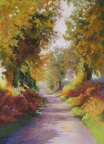 """Bracken and Oak"" original fine art by Ruth Mann"