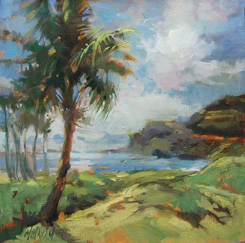 """Hawaii Beach View"" original fine art by Mary Maxam"