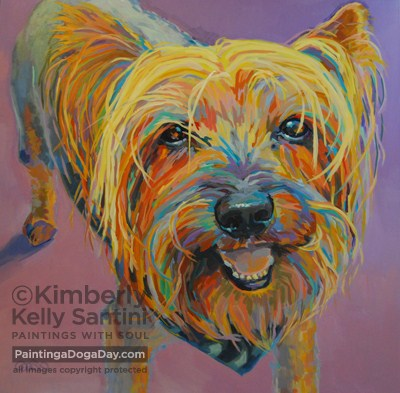 """Romeo"" original fine art by Kimberly Santini"