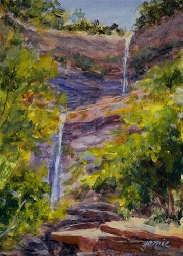 """""""Kaaterskill Falls"""" original fine art by Jamie Williams Grossman"""