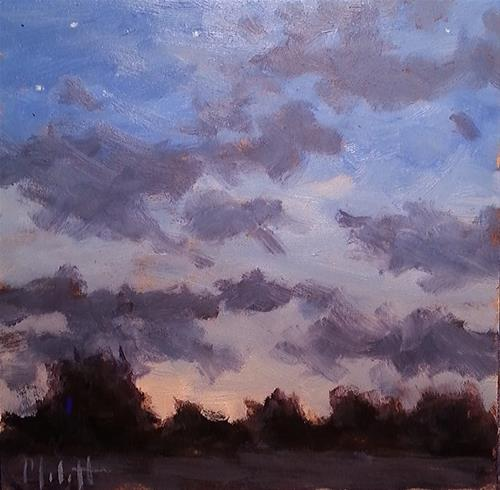 """Nightfall Nocturne Impressionist Landscape Stars Twinkling"" original fine art by Heidi Malott"