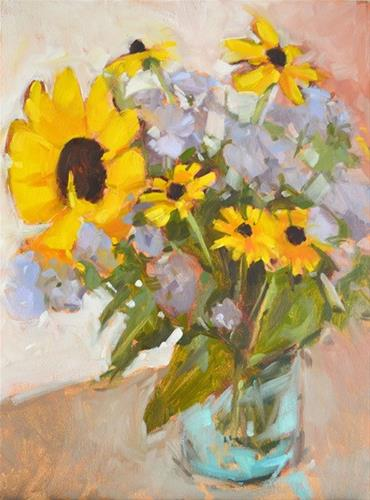 """Sunflower and Friends"" original fine art by Jessica Green"