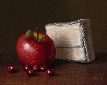"""Golden Series: Apple, Cranberries, and Humboldt Fog ( + Lax at AstroPoets)"" original fine art by Abbey Ryan"