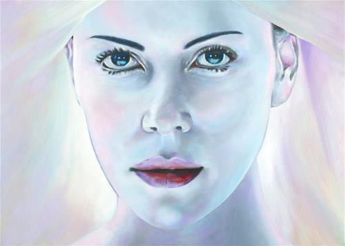 """Aeon Flux"" original fine art by David Clark"