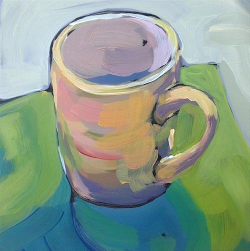 """Mug On Green"" original fine art by Kat Corrigan"