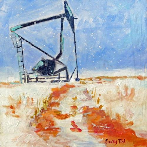 """Pump Jack"" original fine art by Suzy 'Pal' Powell"
