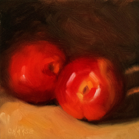 """Nectarines"" original fine art by Cindy Haase"