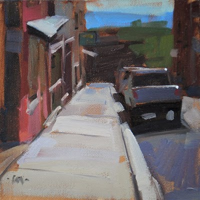 """Jerome Sidewalk"" original fine art by Carol Marine"