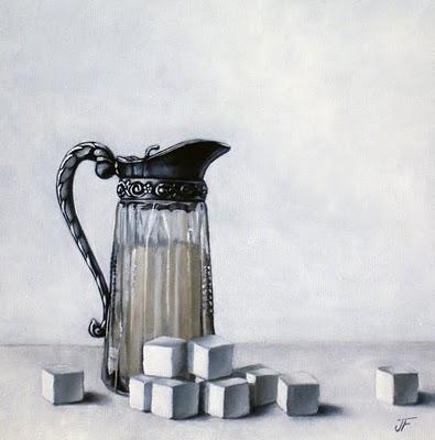 """Cream & Sugar"" original fine art by Jelaine Faunce"