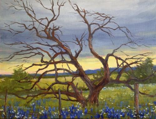 """'Texas Blues' An Original Oil Painting by Claire Beadon Carnell"" original fine art by Claire Beadon Carnell"