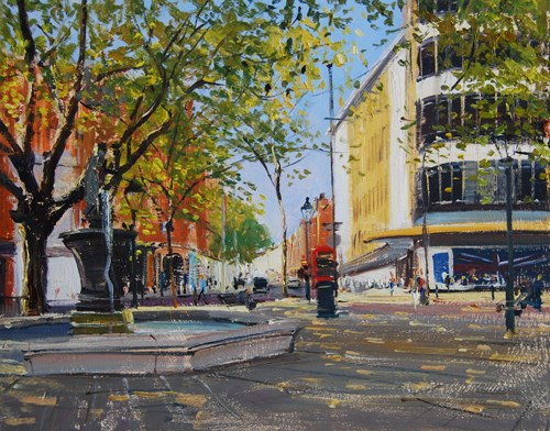 """Morning Light Sloane Square I"" original fine art by Adebanji Alade"