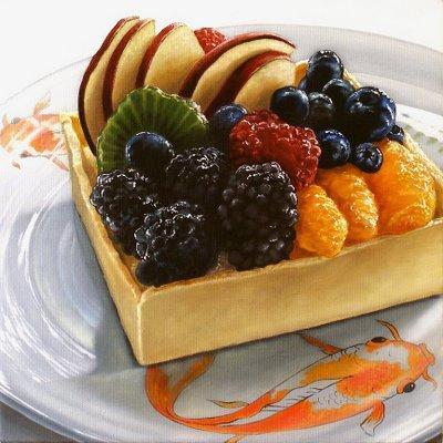 """Fresh Fruit Tart"" original fine art by Jelaine Faunce"