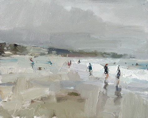 """Painting in California 6 Carmel by the Sea"" original fine art by Roos Schuring"