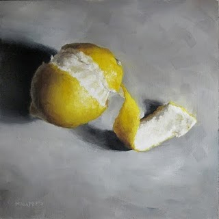 """Lemon Twirl"" original fine art by Michael Naples"