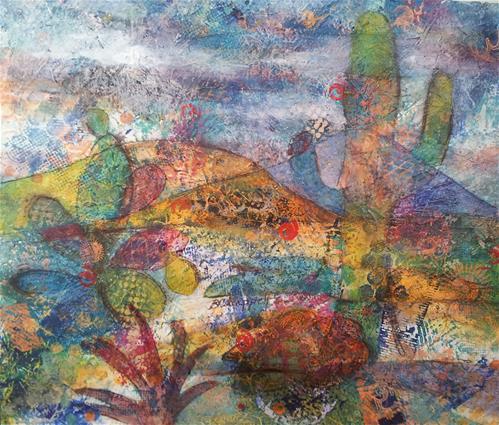 """""""Desert Landscape"""" original fine art by Becky Chappell"""