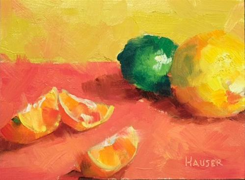 """One Lime"" original fine art by Alice Hauser"
