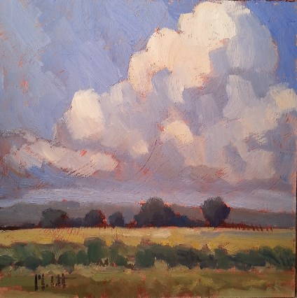 """Summer Corn Contemporary Impressionism Fields & Clouds"" original fine art by Heidi Malott"