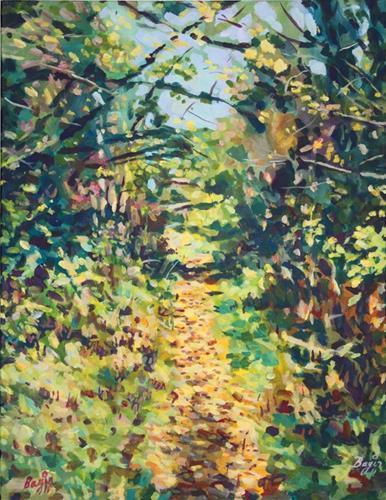 """Dry Leaves"" original fine art by Elbagir Osman"