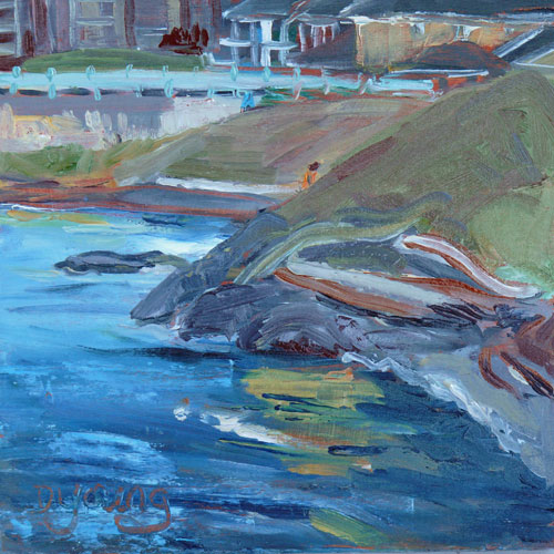 """Ogden Point"" original fine art by Darlene Young"