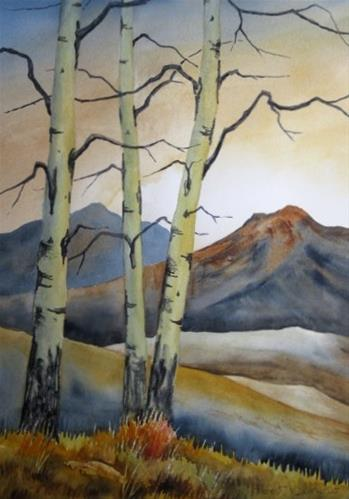 """Aspen Trees"" original fine art by Horst Berlow"