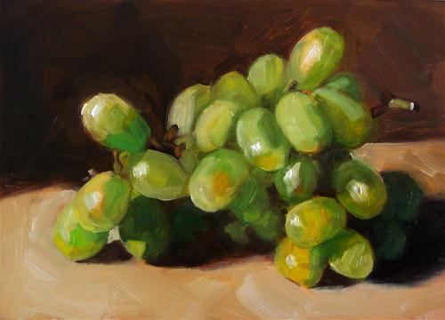 """Green Grapes"" original fine art by Cindy Haase"