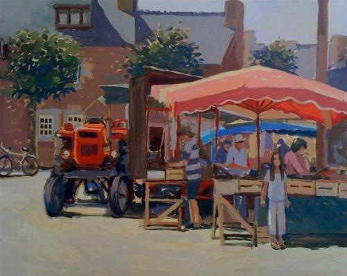 """Chloe in the market place"" original fine art by Haidee-Jo Summers ROI"