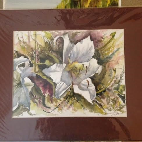"""Lily"" original fine art by Susan Brens"