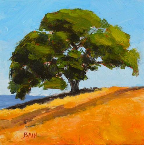 """Oak in the Sun"" original fine art by Peter Bain"