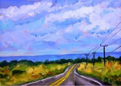 """Winding Road"" original fine art by Piya Samant"