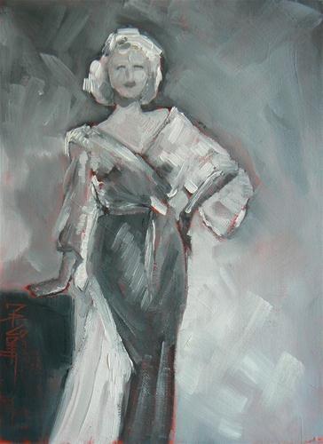 """Glamour Girl II"" original fine art by Carol Schiff"