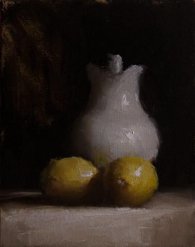 """Jug with Lemons"" original fine art by Neil Carroll"