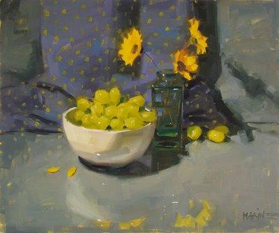 """""""The Secret Life of Grapes"""" original fine art by Carol Marine"""