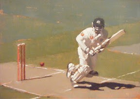 """TEST CRICKET AT THE MCG  #3"" original fine art by Helen Cooper"