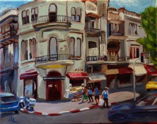 """A Corner in Tel Aviv"" original fine art by Marjie Laizure"