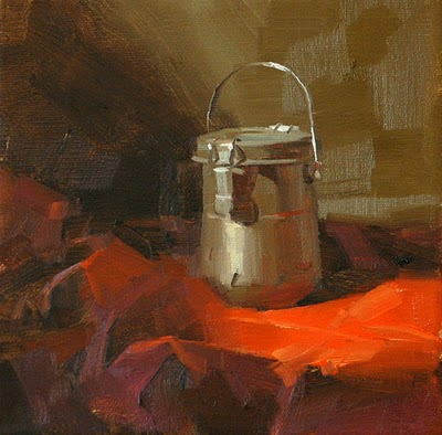 """Brushes Washed --- Sold"" original fine art by Qiang Huang"