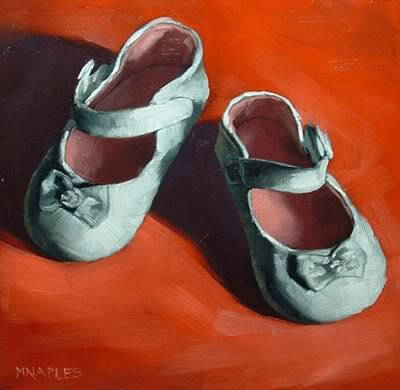 """Baby Shoes"" original fine art by Michael Naples"