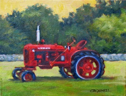 """'Farmall' An Original Oil Painting by Claire Beadon Carnell 30 Paintings in 30 Days Challenge Day Tw"" original fine art by Claire Beadon Carnell"