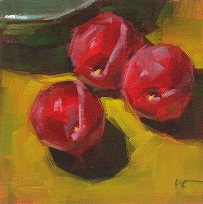 """Purple Plums --- SOLD"" original fine art by Carol Marine"