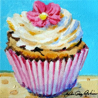 """Cream Cheese Frosting"" original fine art by JoAnne Perez Robinson"