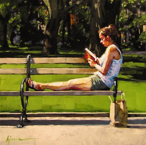 """Bench Warranted"" original fine art by Karin Jurick"
