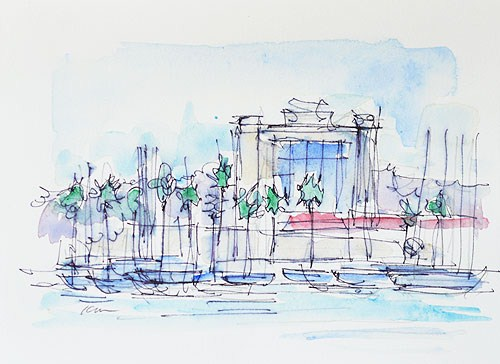 """Harbor Island Watercolor"" original fine art by Kevin Inman"