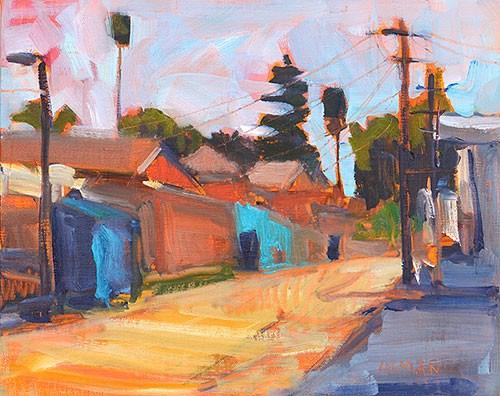 """""""Alley Under Clouds"""" original fine art by Kevin Inman"""