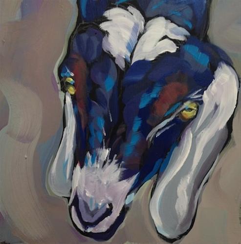 """Goat Eyes"" original fine art by Kat Corrigan"